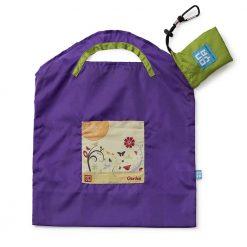 onya reusable shopping bag purple garden small