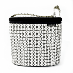 keep leaf insulated cotton cooler bag black and white
