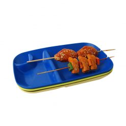ecosoulife bamboo BBQ plate with food